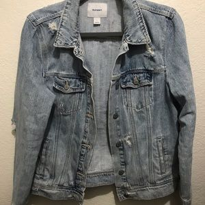 Light washed/gently distorted jean jacket
